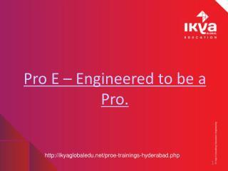 Pro E training in Hyderabad - Ikyaglobaledu