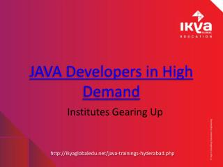 Java Training Institute in Hyderabad