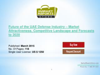 UAE Defense Industry Trends & Future outlook