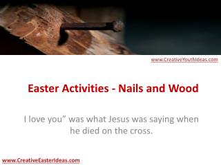 Easter Activities - Nails and Wood