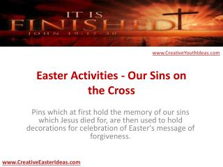 Easter Activities - Our Sins on the Cross