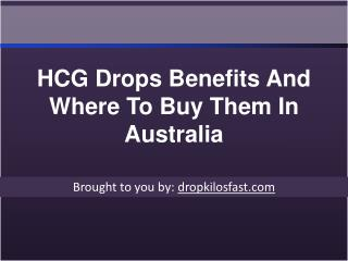 HCG Drops Benefits And Where To Buy Them In Australia