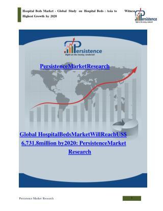 Hospital Beds Market - Global Study on Hospital Beds to 2020