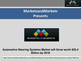 Automotive Steering Systems Market worth $32.4 Billion by 20