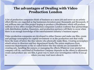 Best Video Production London