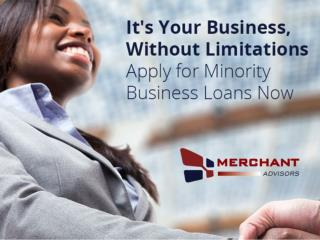 Minority Business Loans from Merchant Advisors