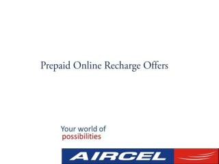 Online Mobile Recharge in Indian with Aircel