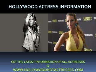 Hollywood Actress Information