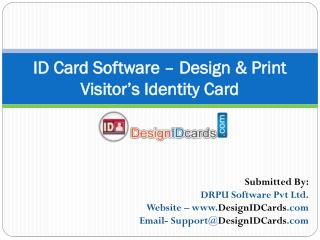ID Card Software – Design & Print Visitor's Identity Card