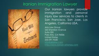 Iranian Immigration lawyer in California USA