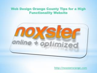 Web Design Orange County Tips for a High Functionality Websi