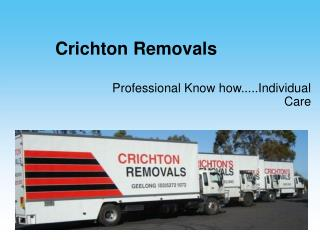 CrichtonRemovals - Efficient and professional commercial mov