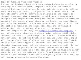 Tips in Cleaning Your Home Carpets