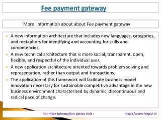 Use personal information about  fee payment gateway through