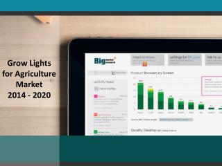 Agriculture Grow Lights Market Product Description For 2020
