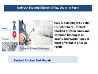 Blocked kitchen sink repair