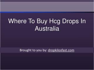 Where To Buy Hcg Drops In Australia