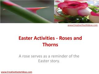 Easter Activities - Roses and Thorns