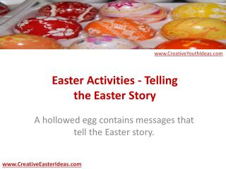 Easter Activities - Telling the Easter Story