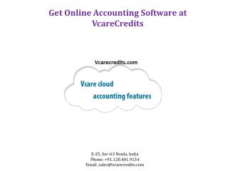 Get Online Accounting Software at Vcare Credits