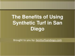 The Benefits of Using Synthetic Turf in San Diego
