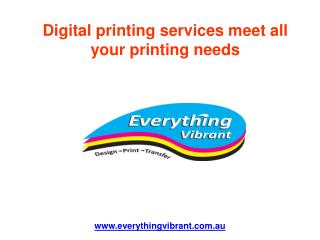 Digital printing services meet all your printing needs