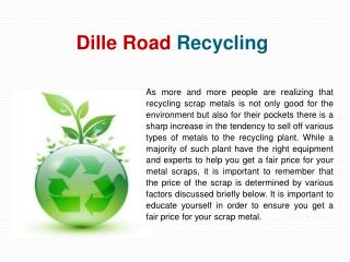 Dille Road Scrap Metal Recycling Ohio