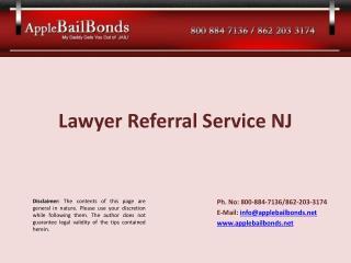Lawyer Referral Service NJ