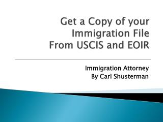 FOIA: Get a Copy of Your Immigration File