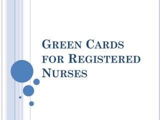 Green Cards for Registered Nurses