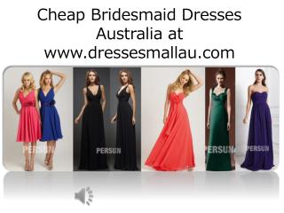 Bridesmaid dresses online sale Australia in 2015