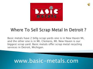 Where to sell scrap metal in Detroit ?
