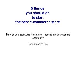 Stand out from crowd of multiple ecommerce store
