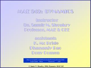 MAE 242:  DYNAMICS