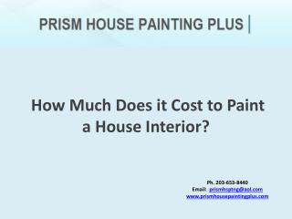 How Much Does it Cost to Paint a House Interior?