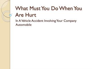 If I'm Injured In A Car Accident With The Company Car, What