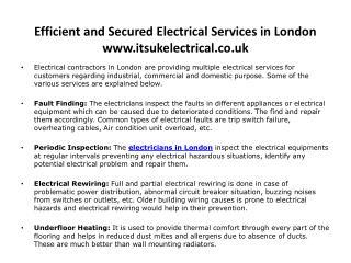 Electricians in London