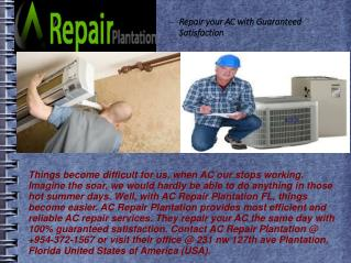 Repair your AC with Guaranteed Satisfaction