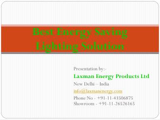 LED Light Suppliers - Laxman Energy