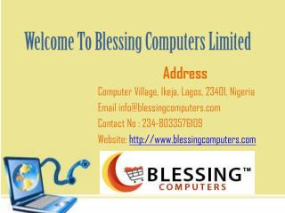 Buy Laptops Online in Nigeria at Blessing Computers