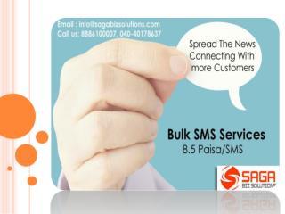 Bulk SMS Service Provider in Hyderabad - Saga Biz Solutions.