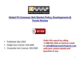 Global PU Conveyor Belt Industry Trends and Technology 2015