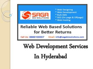 WebDevelopment Companies In Hyderabad - Saga Biz Solutions