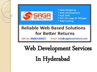 WebDevelopment Companies In Hyderabad - Saga Biz Solutions