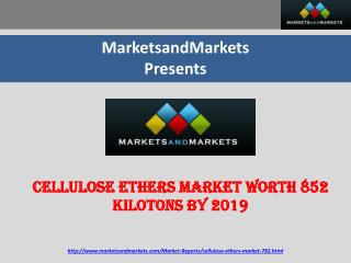 Cellulose Ethers Market