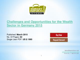 Wealth Sector industry in Germany 2015