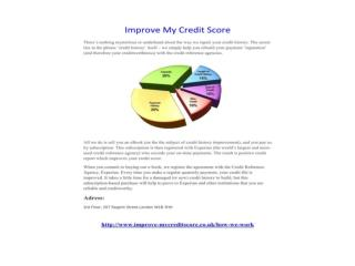 Improve My Credit Score