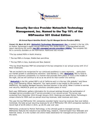 Security Service Provider Netswitch Technology Management