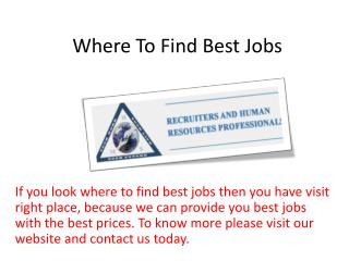Where To Find Best Jobs