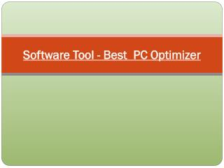Software Tool - Best PC Optimizer